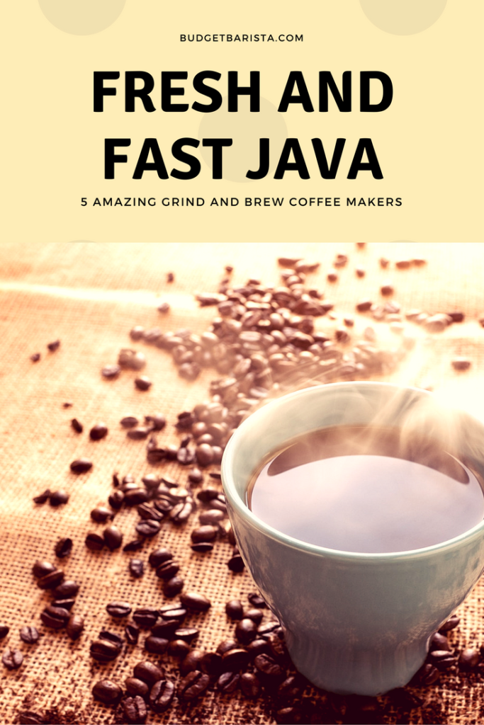 Fresh and Fast Java - 5 Amazing Grind and Brew Coffee Makers